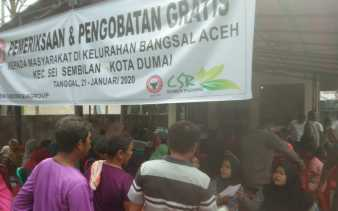 Semen Padang Packing Plant Dumai Gelar Pengobatan Gratis