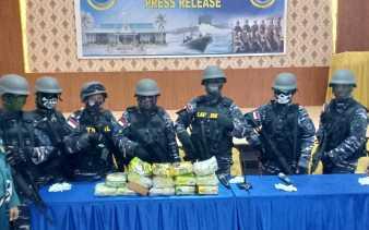 Pelaku Kabur, Lanal Dumai Gagalkan Penyelundupan 15 Kg Sabu
