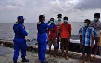 Kompolnas RI Apresiasi Ditpolair Riau Sosialisasikan Protokol Kesehatan ke Nelayan