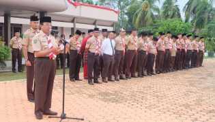 Bupati Inhil Lepas Kontingen Rainas XI Kwarcab Indragiri Hilir