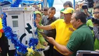 Wakil Wali Kota Dumai Resmikan Stasiun Penyedia Listrik Umum di Taman Bukit Gelanggang