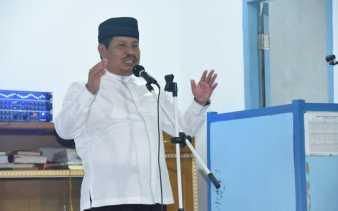 Safari Ramadan di Talang Mandau, Bupati Bengkalis Ingatkan Bayar Zakat