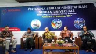 Pertamina Dorong Dosen Teknik Riau Kembangkan Teknologi Pengelolaan Migas