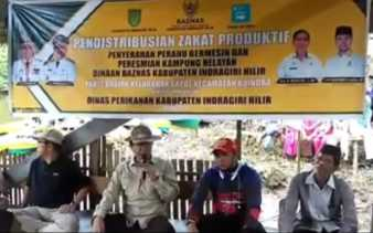 Bupati Inhil Resmikan Parit Basirah Jadi Kampung Nelayan