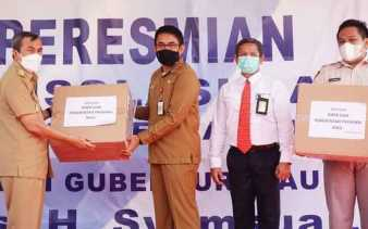 RSUD Dumai Dibantu Alat Penanganan COVID-19 dari Gubernur Riau