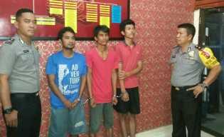 Kuras Duit SPBU, Tiga Pelaku Diringkus Polisi