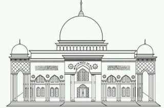 Pembangunan Masjid Al-Hassanah dan Pustaka Hasil Dari Swadaya Masyarakat