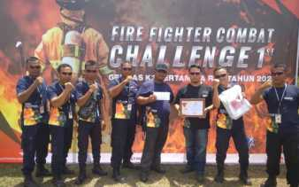 Raih Juara Harapan Lomba Fire Fighter Combat, Patra Niaga Bersemangat Dukung K3
