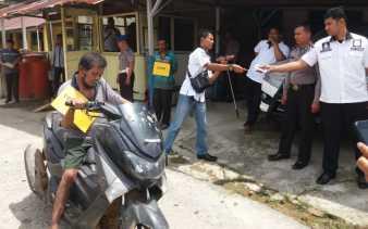 Polsek Bangko Gelar Rekonstruksi Pembunuhan Empat Orang di Pekaitan