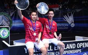 Kevin-Marcus Berhasil Pertahankan Gelar All England, Jokowi Ucapkan Selamat