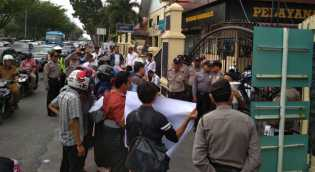 Datangi Mapolda Riau, Formak Minta Usut Dugaan Korupsi di Rohul