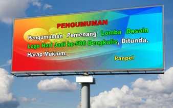 Pengumuman Pemenang dan Launching Logo Hari Jadi ke-506 Bengkalis Ditunda