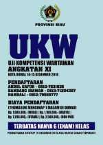 Diadakan di Dumai, PWI Riau Gelar UKW Angkatan XI, Ayo Buruan Daftar...!