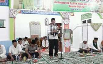 Safari Ramadan di Masjid Baitul Hamdi, Bupati Kuansing Sampaikan Program Pembangunan