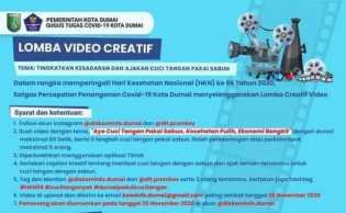 Satgas Covid-19 Dumai Gelar Lomba Video Kreatif Ajakan Cuci Tangan