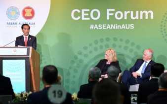 Jokowi Dorong Pengusaha Australia Berinvestasi di ASEAN