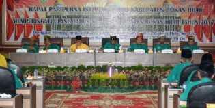 DPRD Gelar Sidang Paripurna Istimewa Memperingati HUT Kabupaten Rohil Ke 18