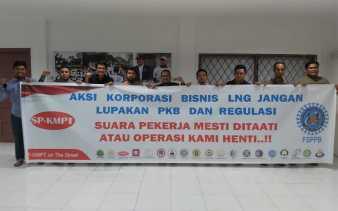 Serikat Pekerja KMPT Pertamina Dumai Minta Pertahankan Bisnis LNG 100 Persen Untuk Negara