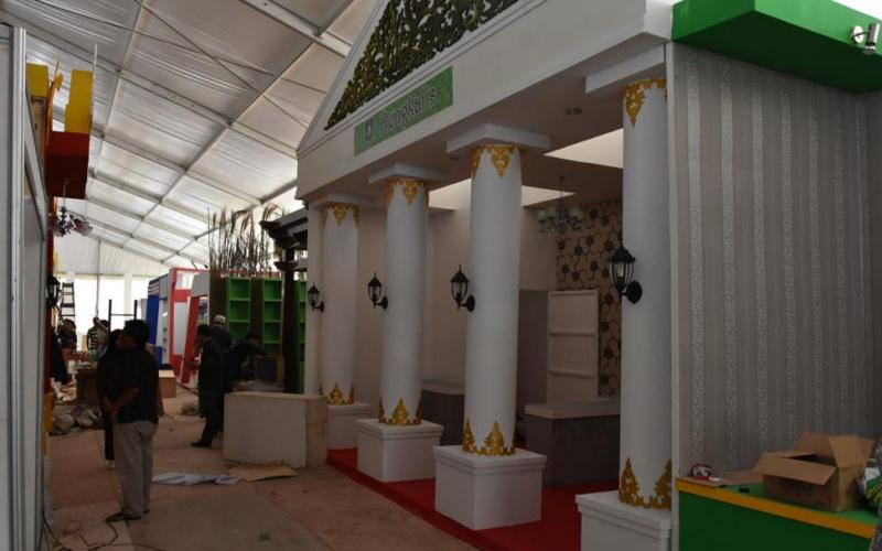Stand Bengkalis di Riau Expo 2019 Selesai 100 Persen