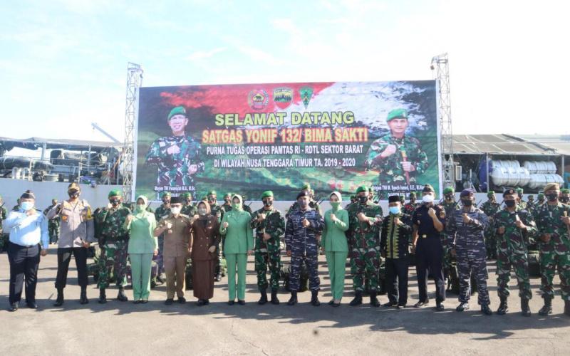 Danrem Riau Apresiasi Pelindo Dumai Fasilitasi Penyambutan 400 Prajurit Perbatasan