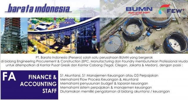 Lowongan Kerja BUMN PT Barata Indonesia, Ayo Buruan Daftar