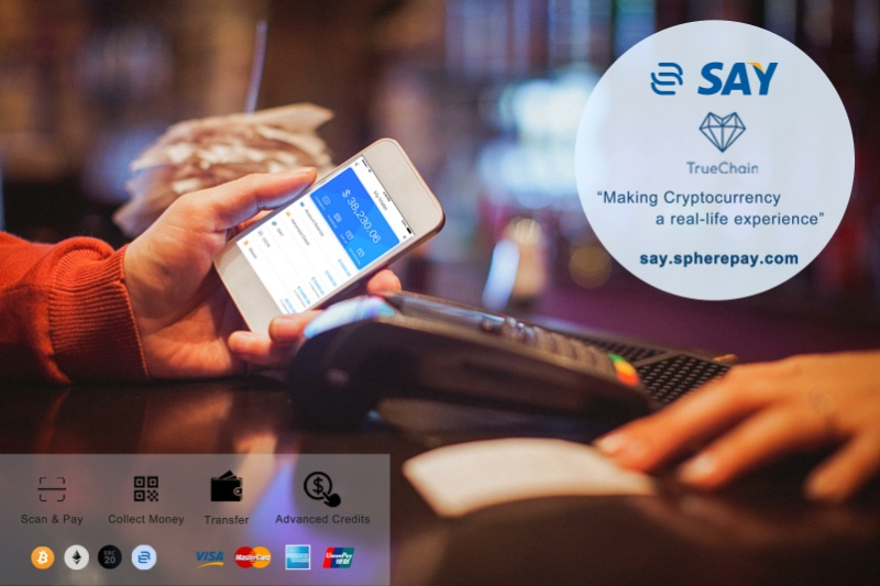 SpherePay Cryptocurrency Project 'SAY' Secures Strategic Partnership With TrueChain To Cater To 400 Million Population In South East Asia And Beyond