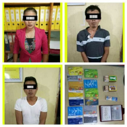 Tiga Pelaku Diduga Pembobol ATM di Rohul Dibekuk Polisi