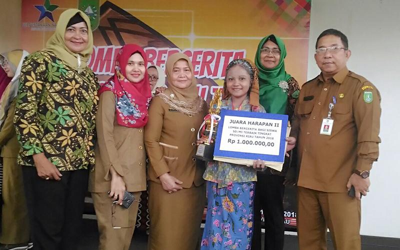 Dispersip Dumai Ikuti Lomba Bercerita Tingkat SD se-Provinsi Riau