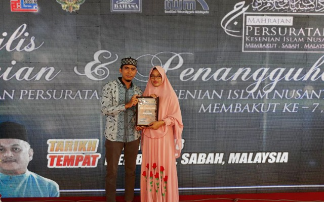 Putri Terbaik Bengkalis Raih Juara I Lomba Kaligrafi di Malaysia