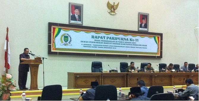 Ini Pandangan Fraksi-fraksi DPRD Inhil Terhadap RAPBD 2018