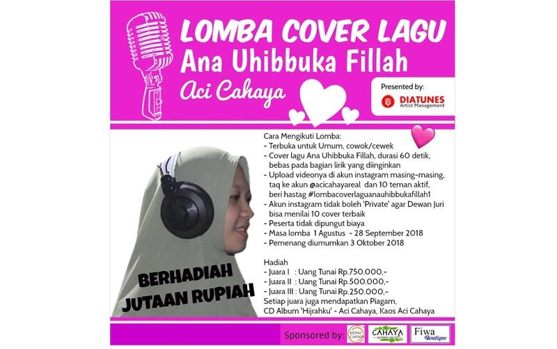 Lomba Cover Lagu dari Penyanyi Pekanbaru Aci Cahaya Meriahkan HUT RI ke 73