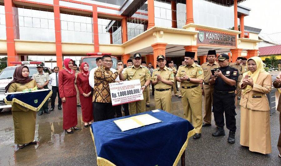 Pemkab Inhu Terima CSR Bank Riau Kepri Untuk Bangun Panti Asuhan