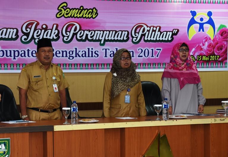 Bupati Buka Seminar 'Rekam Jejak Perempuan Pilihan Kabupaten Bengkalis'