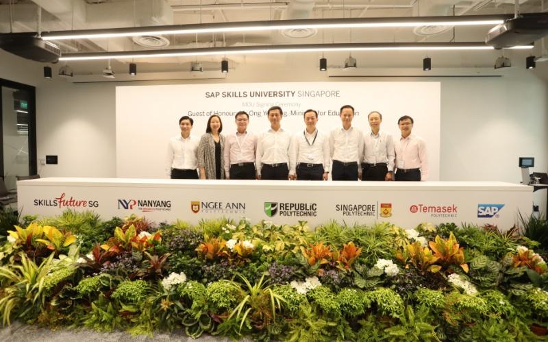 SAP, SkillsFuture Singapore and Polytechnics Sign MoU to Launch SAP Skills University Singapore