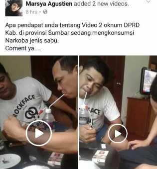 Video Diduga Anggota DPRD Lagi Nyabu Beredar di Facebook