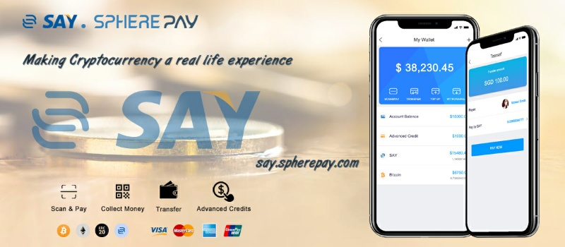 SpherePay, Set To Launch Its Own Cryptocurrency called SAY In Partnership With ODYSSEY (OCN)