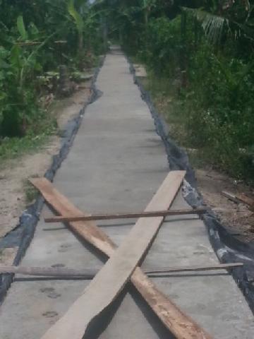 Program Pembangunan Desa Sanglar Terus Berlanjut Dan Tepat Sasaran