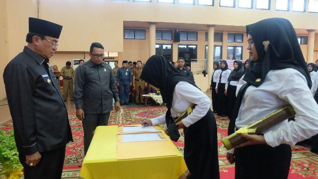 Bupati Wardan Serahkan SK CPNS PTT Kemenkes Tahun 2017